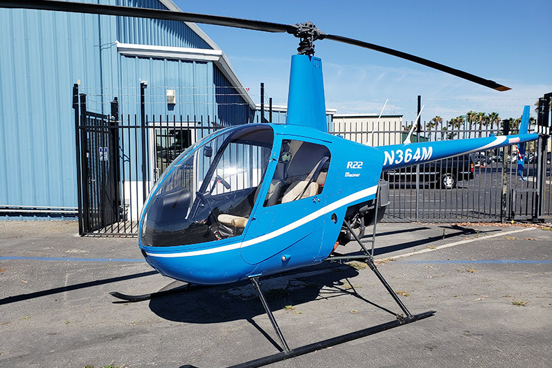 2 passengers Helicopter / R22