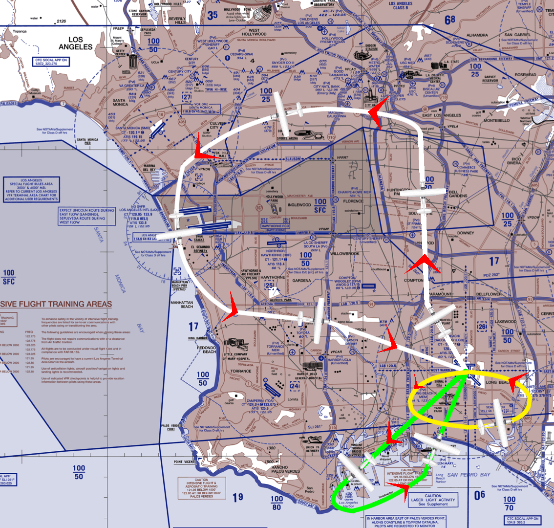 Routes of Intro Demo Flight